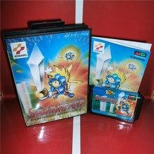 سباركستر 2 اليابان غطاء مع صندوق ودليل ل Sega megadve نشأة لعبة فيديو وحدة التحكم 16 بت MD بطاقة