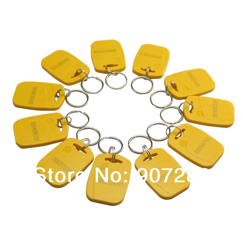 100 x RFID 125KHz Proximity Key Chain Tags for Access Control System turck proximity switch bi2 g12sk an6x