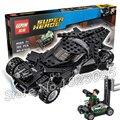 306 unids 07018 marvel dc comics batman vs superman kriptonita interceptación diy bloques de construcción compatibles con lego