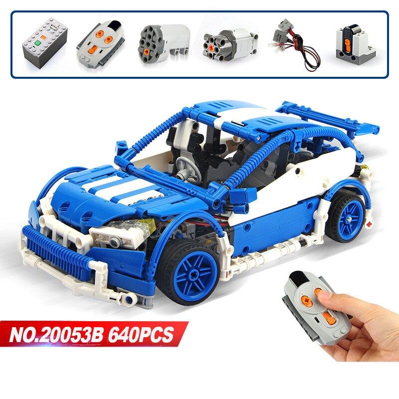 LEPIN Technique 20053B Legoing Bleu Technique Hayon Type Télécommande RC Voiture MOC-6604 Blocs de Construction 640 pcs Jouets Pour Enfants