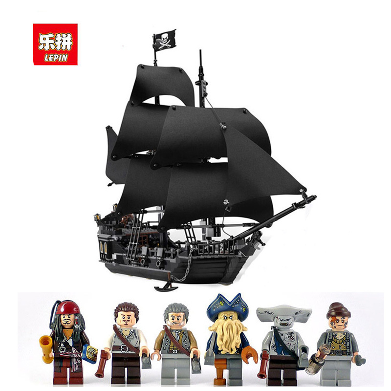 The 804pcs 16006 Pirates of The Caribbean Black Pearl Ship model Building Blocks Toys For Children compatible 4184