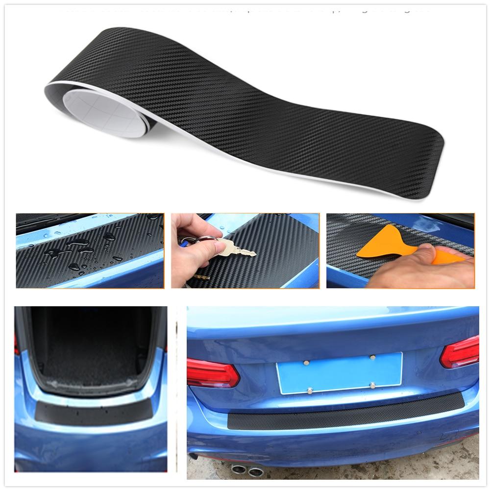 Araba Stil Karbon Fiber Araba Arka Tampon Gövde Çıkartmaları Için Hyundai Accent Azera Elantra Solaris Verna Santa Fe IX45 Sonat