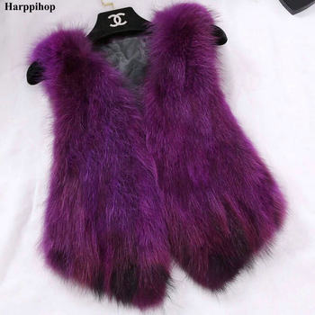 2018 Sleeveless Vest Real Fox Fur Gilvet Natural Fox Fur Vest Women Trend Fashion Factory Wholesale Retail Fur Waistcoat image