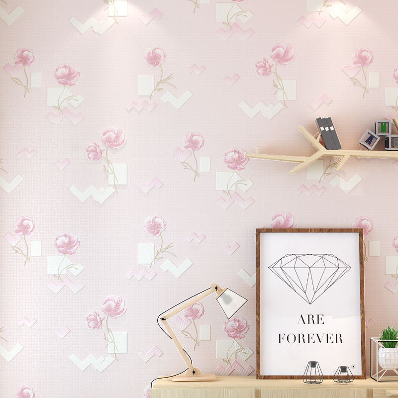 Rushed Papel Pintado Paysota 3d Flower Non-woven Wallpaper Bedroom Sweet Marriage Room Living Sofa Tv Setting Wall Paper large mural papel de parede european nostalgia abstract flower and bird wallpaper living room sofa tv wall bedroom 3d wallpaper