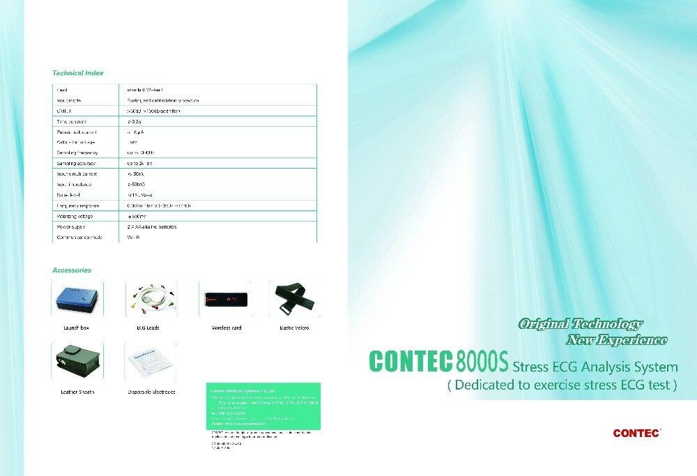 EMS Free Shipping CONTEC8000S 12-Lead digital Wireless Stress EG EG Workstation