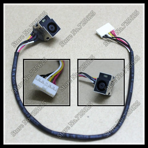DC power jack with Cable Connector Socket for HP DV5 DV6 CQ61 DV7-2000 Series 1pcs/lot 10pieces lot dc power jack socket for lenovo ideapad 100 14 100 14iby 100s 14iby 100 14ibr 100s 14ibr charging port connector