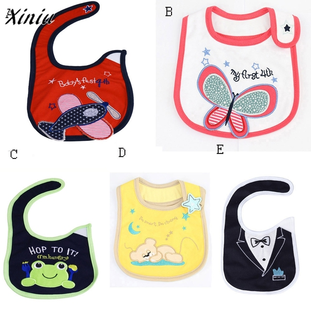 Baby Bibs Newborn Infants Kids Toddler Cotton Waterproof Bibs Saliva Towel Feeding Accessories