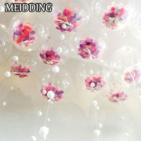 MEIDDING 18 Inch Giant Clear Balloons Confetti Balloons For Wedding Baby Shower Birthday Party Decorations