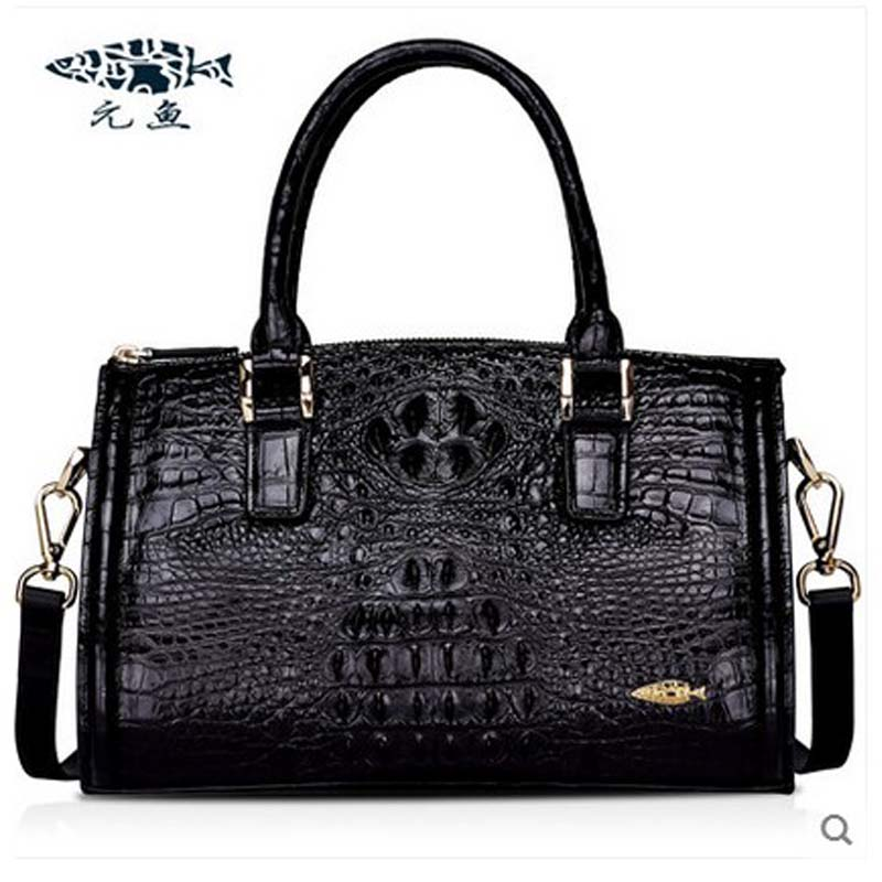 yuanyu 2018 new hot free shipping real Thai crocodile women handbag female bag lady one shoulder women bag female bag yuanyu 2018 new hot free shipping crocodile women handbag wrist bag big vintga high end single shoulder bags luxury women bag