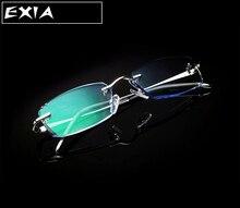 Titanium gläser optischen single vision mode für männer brillen exia optische kd-19