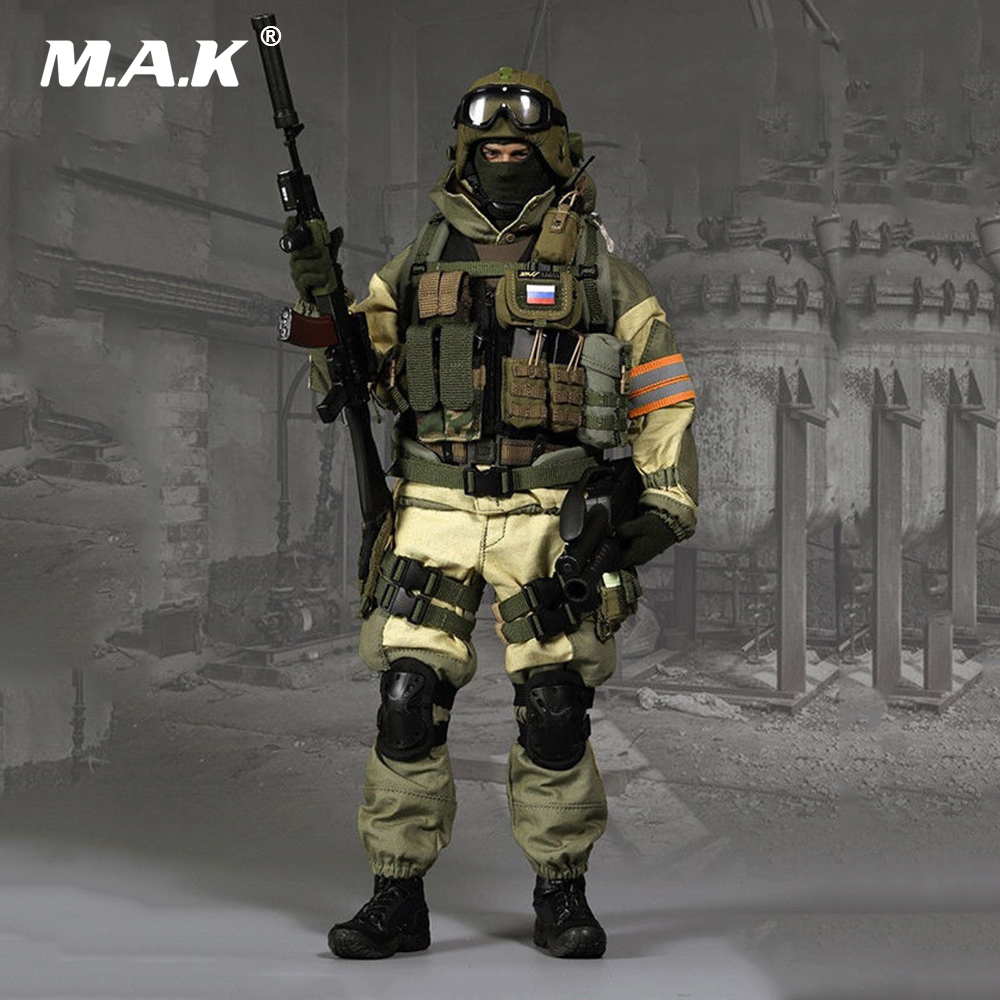 1/6 Scale Male Soldier Clothes Russia Spetsnaz Counter-Terrorism Solider Clothing Sets for 12 inches Man Action Figure Body 1 6 scale nude male body figure muscle man soldier model toys for 12 action figure doll accessories