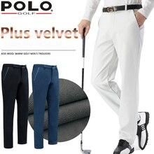 Brand POLO Golf Straight Men's Trousers Windproof Cultivate Pant Male Plus Velvet Elastic Pant Winter Sportwear Trouser XXS-XXXL