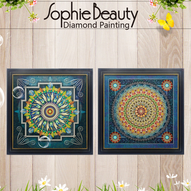 New Diamond Cross Stitch Embroidery Full Needlework Diy Diamond Painting Kit Universe Meditation Mandala Series Free Shipping