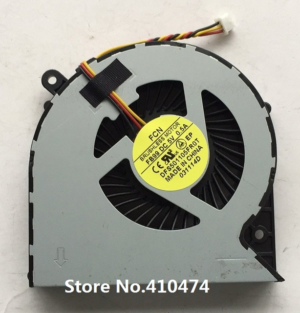 New original CPU fan for Toshiba satellite C850 C855 C875 C870 L850 L870 DFS501105FR0T CPU cooling Fan