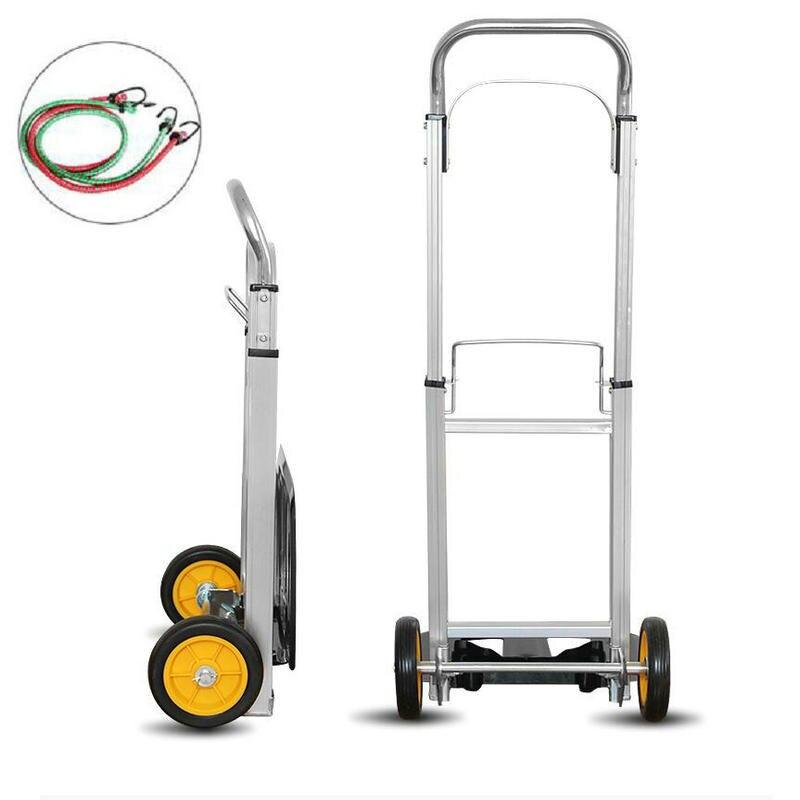 HQ TT01 100KGS robuste pliable chariot à main camion en Aluminium chariot à main entrepôt roue brouette Lifter avec roulettes PU
