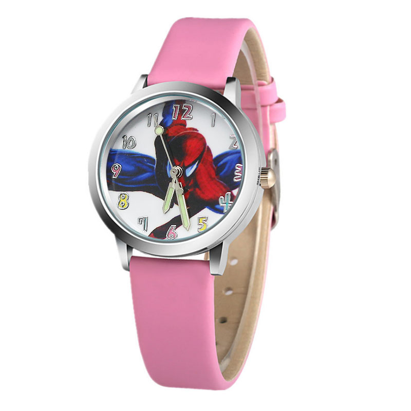 Hot koop cartoon spiderman horloge kinderen horloges Lederen - Kinderhorloges - Foto 4