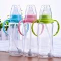 240 ml Garrafa Bebê Bonito Infantis Crianças Recém-nascidas Aprender Alimentação Beber Garrafas De Água Suco De Garrafa Alça De Palha Criança Copo de Treinamento