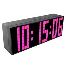 CH KOSDA Digital LED Clock New Wall Desk LED Alarm Clocks Table Bedroom Kids Funny Bedside Clock Innovative Countdown Timer Date