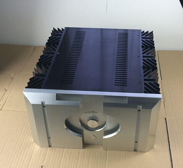 QUEENWAY Small PASS Mini XA160.5 CNC Full Alumium Case Class A Amplifier Chassis 360mm*195mm*396mm 360*195*396mm