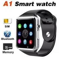 A1 Smart Horloge Bluetooth SIM TF Gezondheid Monitoring Touch Mobiele Telefoon Smartwatch Alarm Waterdichte Camera DZ09 Z60 Voor IOS Android