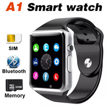 A1 Смарт часы Bluetooth sim-tf мониторинг здоровья сенсорный мобильный телефон SmartWatch сигнализации Водонепроницаемый Камера dz09 z60 для IOS Android