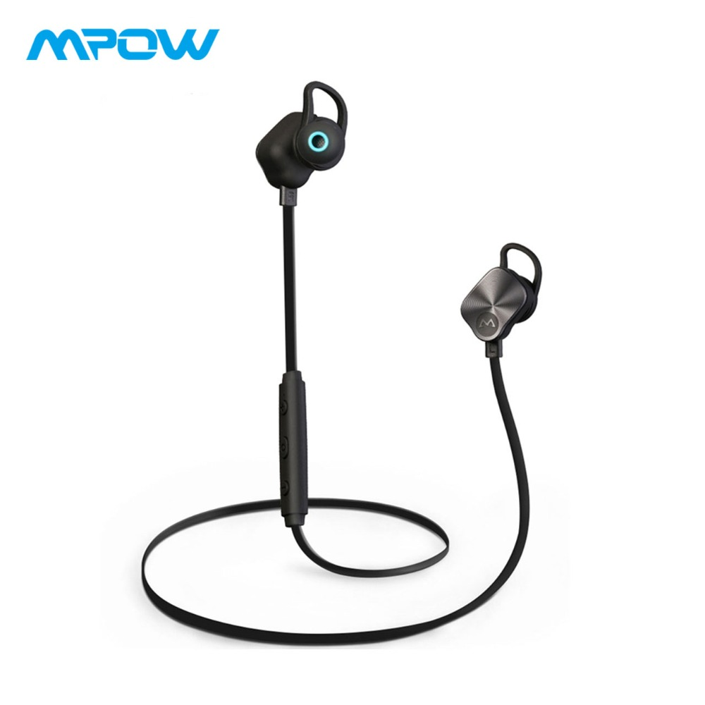 Original Mpow Coach Bluetooth 4.1 Headphones Wireless Earbuds Stereo Music Sport Earphone Sweatproof Earbuds With Microphone