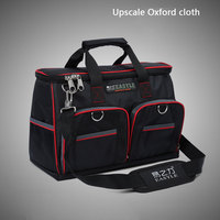 12 33x9x24cm Multifunctional Electrical Bag Tools Case Oxford Bag Electrician Canvas Tool Bag Toolkit