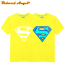 Children Avengers Super Hero Logo Print Tops Kids Luminous Summer Short Sleeve T shirt Boys Girls Superman Batman T-shirt 3-15T(China)
