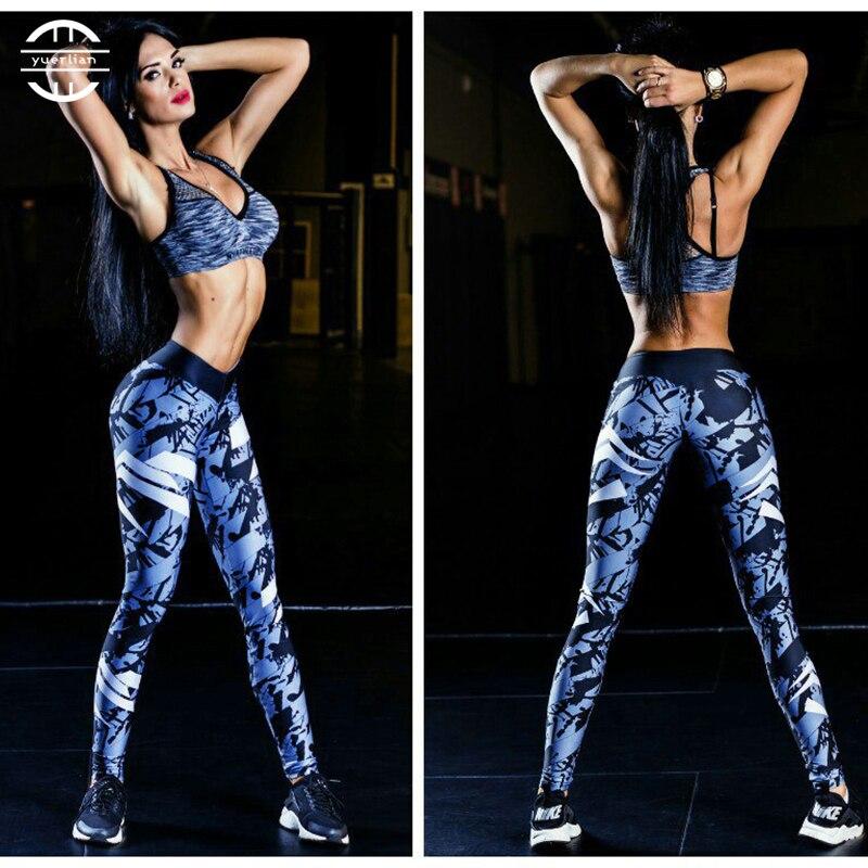 02e90a0ad1b3d Yuerlian Hot Print Women Running Pant Girls Gym Long Yoga Pants Women  Workout Sports Trousers Skinny