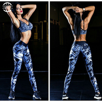 Yuerlian Hot Print Women Running Pant Girls Gym Long Yoga Pants Women Workout Sports Trousers Skinny Sexy Fitness Tight Leggings