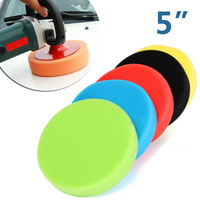 Accessories Polishing Pads Disc Round Cleaning Kit Waxing Flat Car Foam Buffing Sponge 5 Inch|Care Shampoo|   -