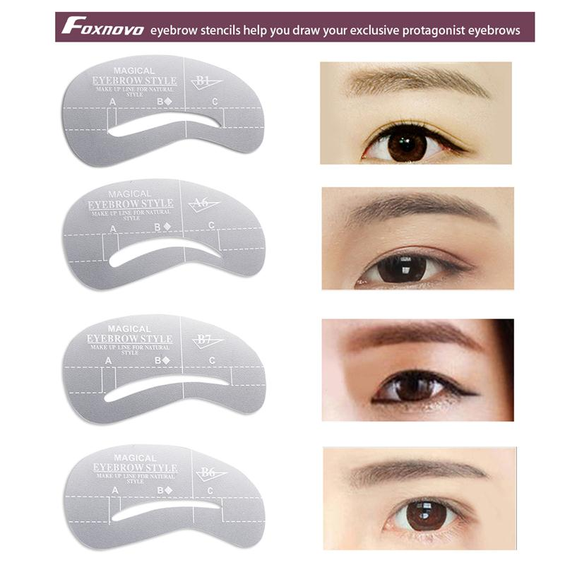 24pcs Eyebrow Stencils Eye Brow Grooming Shaping Templates Diy