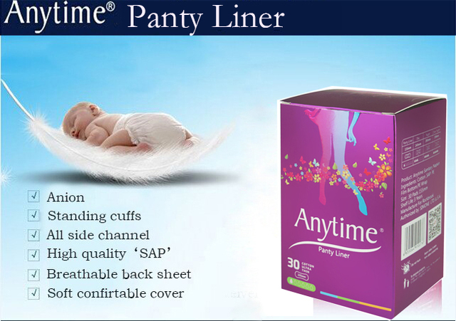 60 Boxes Panty Liner Women Feminine Hygiene Products Anion Cotton Sanitary Napkin Medicated Lady Sanitary Pads