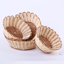 Handgemaakte imitatie Rotan weven mand brood fruit groenten Eten snacks opslag mand container voor picknick party 1 PC(China)