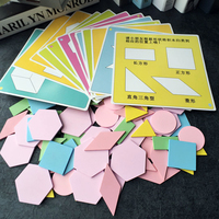 102 pcs Learning Education Puzzle Wooden Toys For Children Jigsaw Tangram Kids Brain 3d Puzzle Games Creative Set New Year Gift