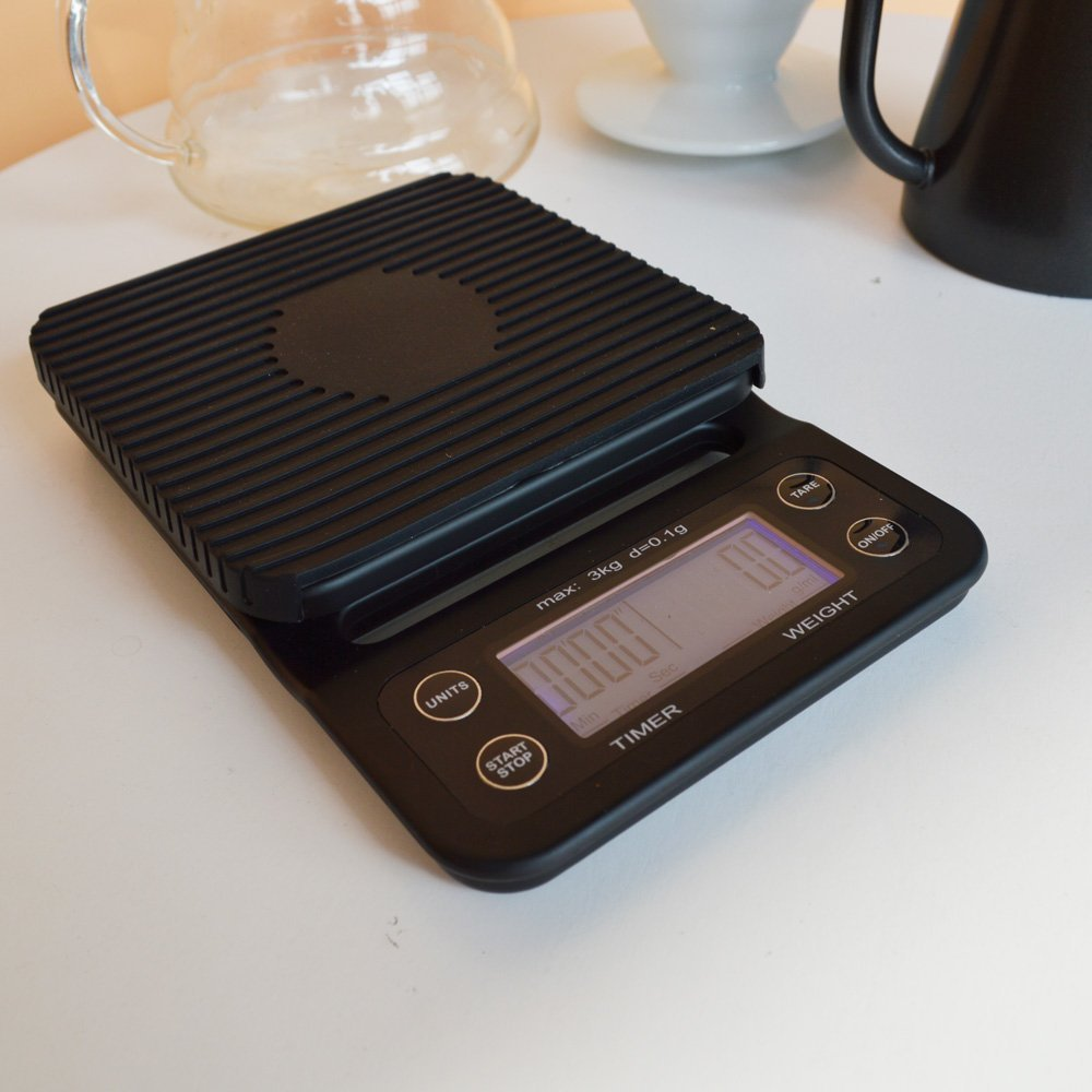 SANBEI 3kg 0.1g Coffee Scale Blue Light Display Drip with Timer Digital Kitchen Weight Electronic Scale цена