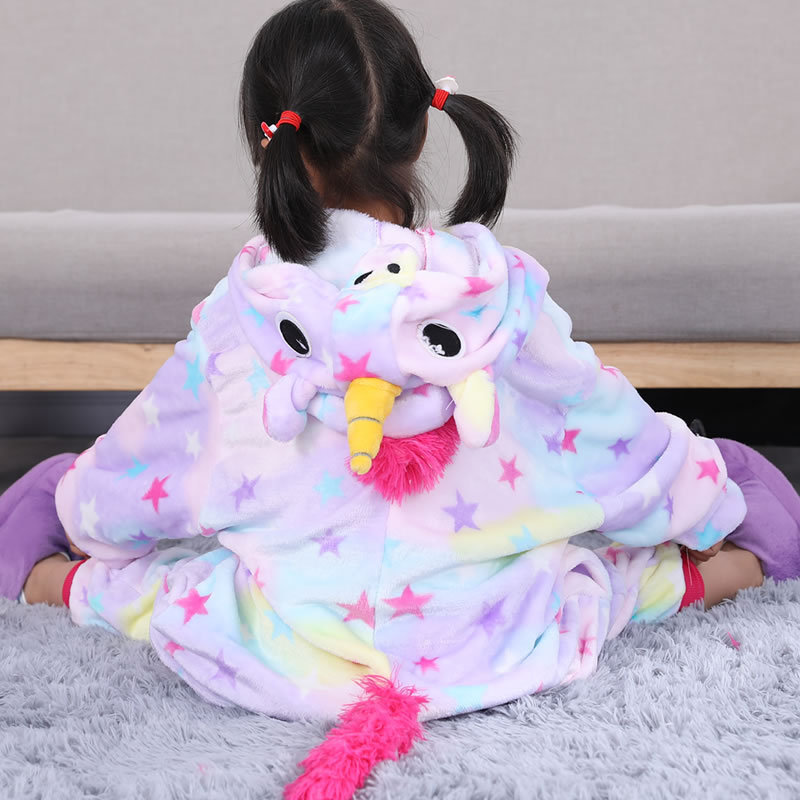 15 Colors Colorful Unicorn Pajamas Children Unisex pijamas Boy Girl Kid Cartoon Animal Pegasus Pyjama Onesie Sleepwear Hoodie christmas rainbow unicorn animal family onesie pajamas