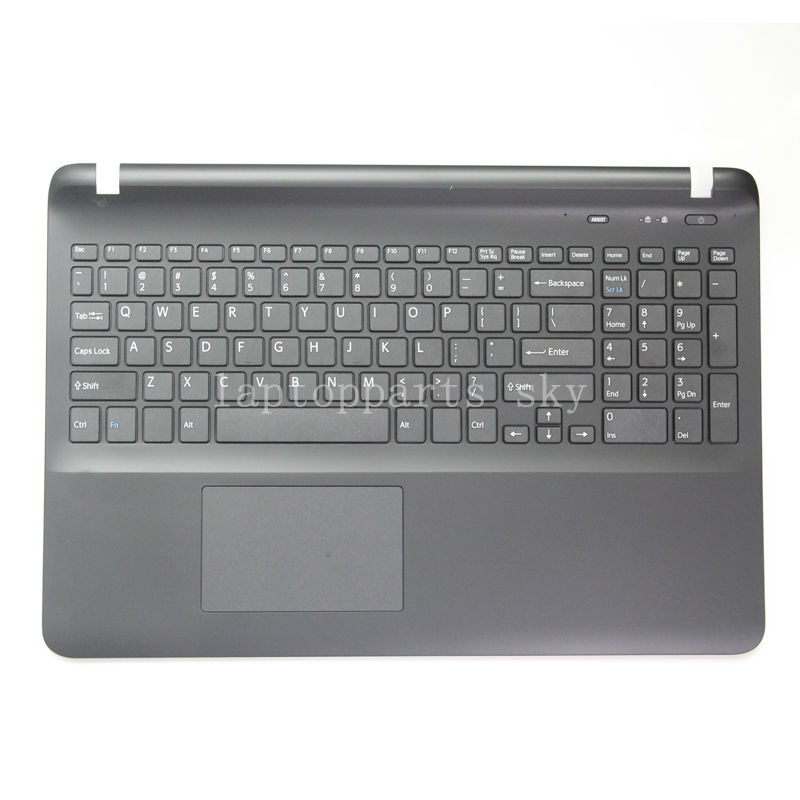 ФОТО New US English keyboard For Sony SVF15 SVF151 SVF152 SVF153 SVF1541 SVF15E black cover with Mouse touchpad keyboard shell