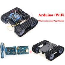 Espduуправление Робот Танк шасси комплект с макетной платой+ моторный привод щит+ двигатель постоянного тока для Arduino DIY RC игрушка комплект