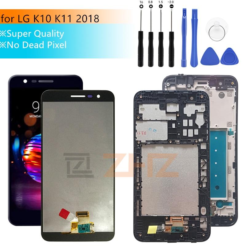 Super qualidade lcd para LG k10 2018 Display LCD Touch Screen Digitador Assembléia para LG K10 K11 2018 Pantalla com quadro 5.3