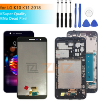 Super quality lcd for LG k10 2018 K11 LCD Display Touch Screen Digitizer Assembly for LG K10 2018 Pantalla with frame 5.3