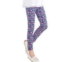 Baby Kids Girls Casual Leggings Pants Flower Floral Printed Elastic Long Trousers 2-14Y