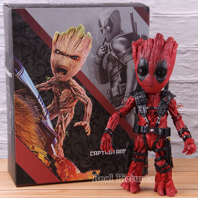Marvel Guardians of the Galaxy Tree Man Cosplay Deadpool Action Figure PVC Tree Man Figure Collectible Model Toy