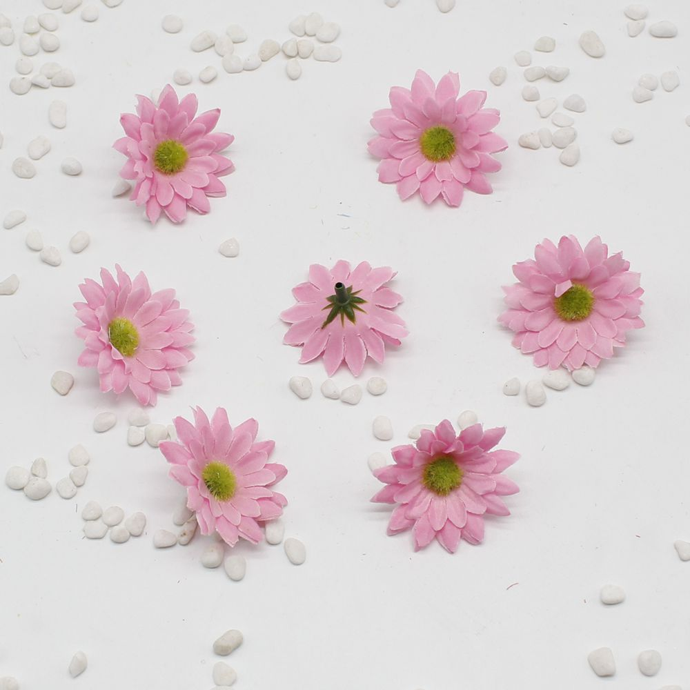 50 pcs Small Sunflower Silk Handmade Artificial Flower Wedding Head ...