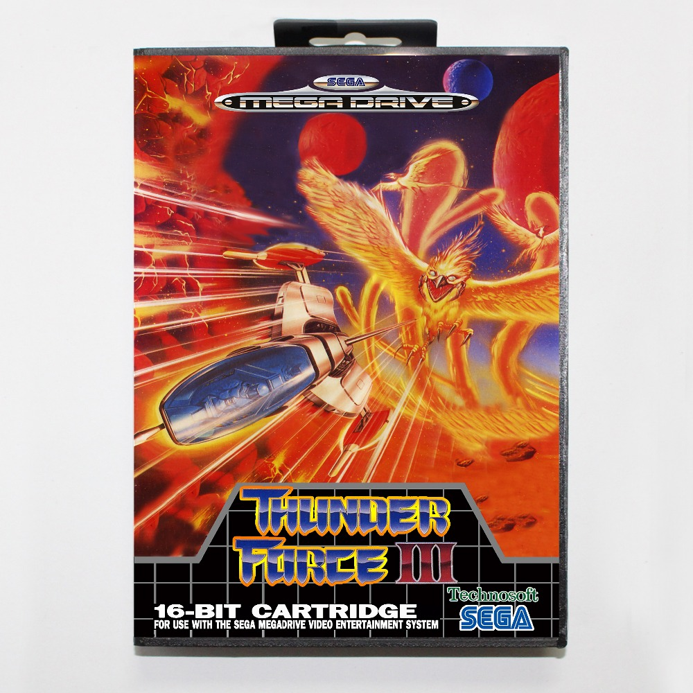 Thunderforce3 16 bit SEGA MD Game Card With Retail Box For Sega Mega Drive For Genesis
