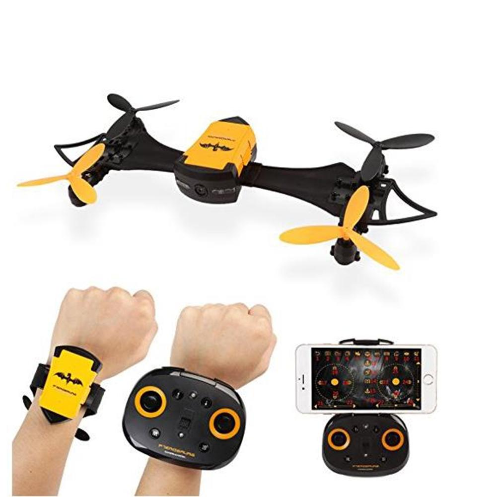 все цены на LeadingStar Remote Control Mini drone Toy Portable Hand Watch Style Bat Uav 4-axis Wifi Aerial Photography Drone онлайн