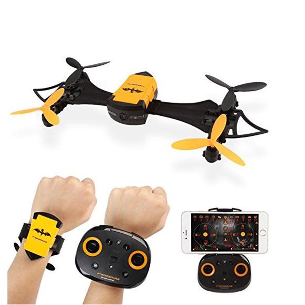 все цены на Leadingstar Remote Control Mini drone CX-10  Toy Portable Hand Watch Style Bat Uav 4-axis Wifi Aerial Photography Drone онлайн
