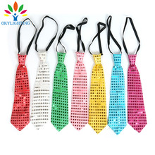 5PCS/lot Led Luminous Neck Tie Mixcolor Flashing Male/Female Fashion Tie ,Party and Dancing Stage Glowing Tie light up toy