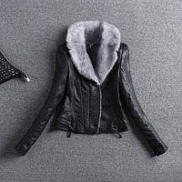 2017natural Fox Lapel Men S Sheep Leather Jacket Down Jacket Leather Thicker Winter Warm Jacket Down