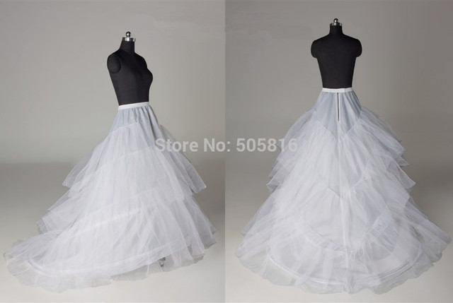 White Plus Size 2 Hoops Wedding Gown Train Petticoat Crinolines Slips Fit USA SIZE 18